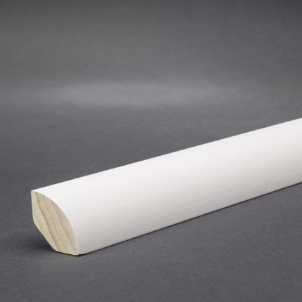 Fussleiste Eiche Weiß lackiert